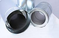 Труба для дымохода двустенная термоизоляционная (сэндвич) нерж./оцин. диаметр 230/300 мм длина 1 м