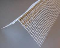 Уголок пластиковый перфорированный с сеткой (контрашульц) 3,0м