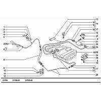 Облицовка защитная шланга пер. топливной трубки ВАЗ 21101