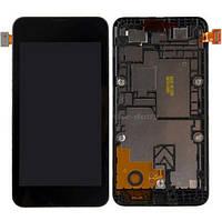 Дисплей (экран) + сенсор (тач скрин) NOKIA Lumia 530 black (оригинал)