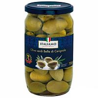 Оливки гигантские Italiamo Olive verdi Bella di Cerignola, 700 г, фото 1