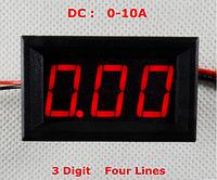 Амперметр постоянного тока 10A (встроенный шунт)