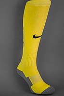 Футбольные гетры NIKE, Найк, желтые с черной пяткой, ф1742