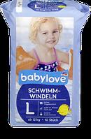 Babylove Schwimm-Windeln Größe L, ab 12 kg - Подгузники для плавания от 12 кг, 10 шт