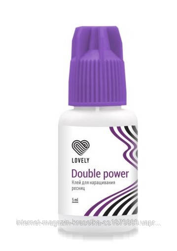 "Клей для ресниц Lovely ""Double Power"" черный 5 мл"