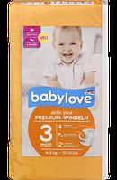 Babylove Windeln Premium aktiv plus Größe 3, midi 4-9kg - Детские подгузники размер 3, 4-9 кг, 50 шт.