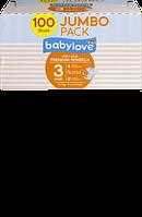 Babylove Windeln Premium aktiv plus Größe 3, midi 4-9kg, Jumbo Pack 2x50 St - Подгузники р. 3, 4-9 кг, 100 шт.