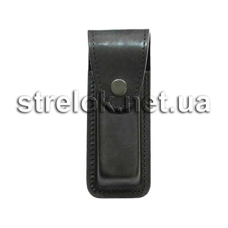 Подсумок кожаный для магазина Форт17 черный