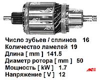 Ротор (якорь) стартера  для Mercedes-Benz Viano 2.2 cdi. Мерседес Бенц Виано. Код SA3007 - AS Poland.