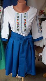 Красивое вышитое платье р.38-48