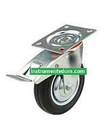 Колесо 530125 с поворотным кронштейном и тормозом (диаметр 125 мм)