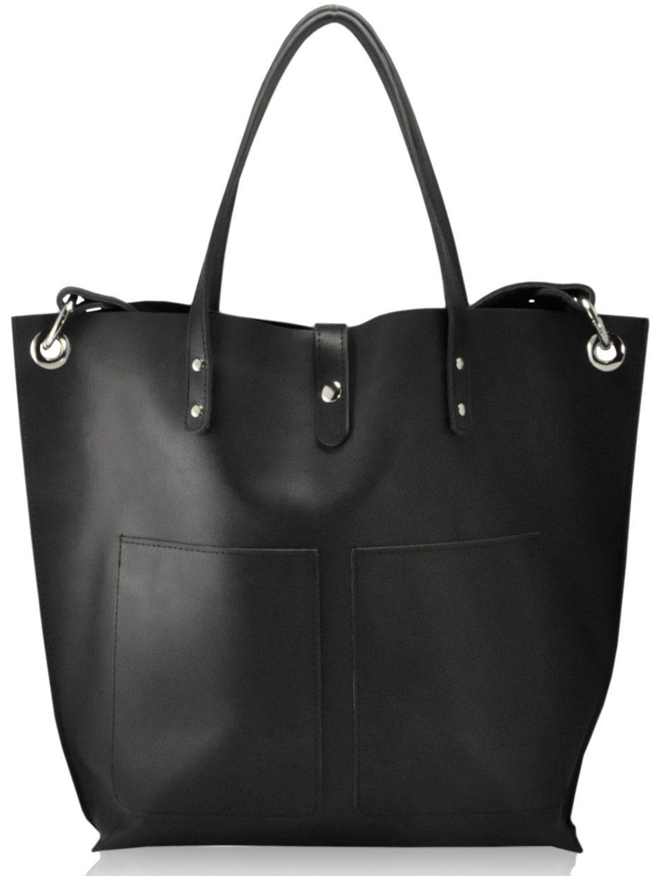 Женская кожаная сумка Cowboy черная