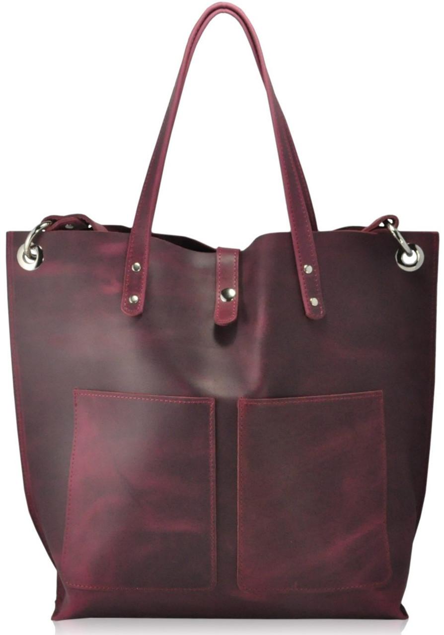 Женская кожаная сумка Cowboy виноградная