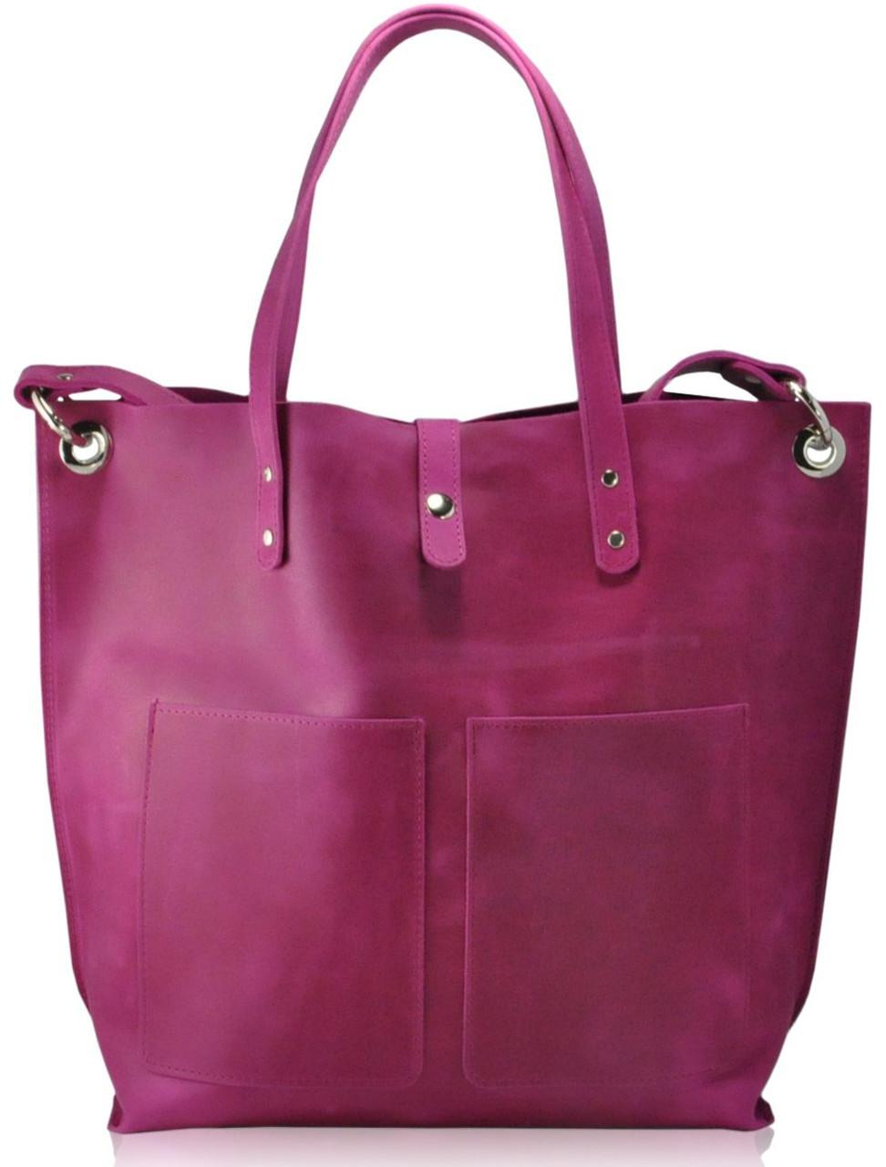 Женская кожаная сумка Cowboy фуксия