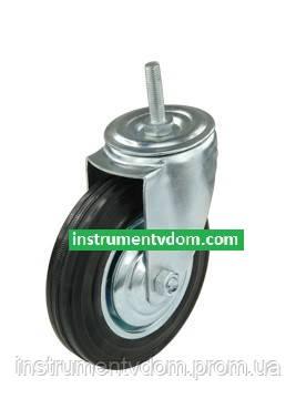 Колесо поворотное 540125 со штыревым креплением (диаметр 125 мм)
