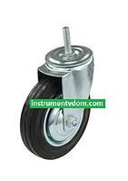 Колесо поворотное 540075 со штыревым креплением (диаметр 75 мм)