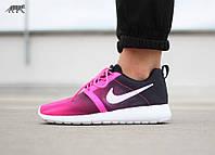 Кроссовки женские Nike Roshe Run, найк роше ран черно-розовые 36