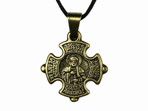 Крест нательный мужской Александр