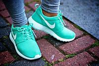 Кроссовки женские Nike (найк) Roshe Run (роше раны) бирюзовые 2016