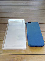 Кожаный чехол-накладка для iPhone 5/5s/SE deep blue в фирменной упаковке (high copy)