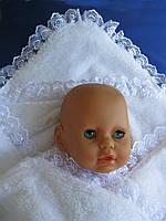 Крыжма «Викки». Крещение ребенка - крижмо. Плед, одеяло для новорожденного