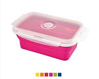 Контейнер для хранения продуктов с герметичной крышкой силикон, пластик19х12,5х7,2 см