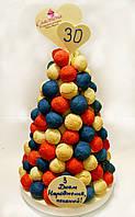 Самый лучший и оригинальный подарок мужчине - Крокенбуш из 100 заварных пироженных