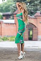 Летнее прилегающее платье длинны миди 40-46 размеры, фото 1