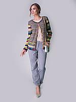 Стильный легкий летний жакет IVKO Woman из хлопка с комбинацией узоров