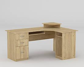 Угловой компьютерный стол большой с ящиками СУ - 3