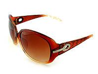 """Солнцезащитные очки женские с фактурной оправой и градиентными стёклами """"Diana"""", коричневая оправа"""