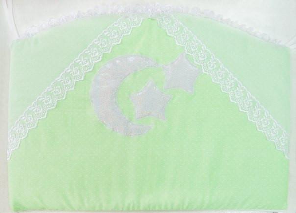 Детский постельный комплект «Небесный дуэт» (Салатовый, 7 элементов), EkoBaby