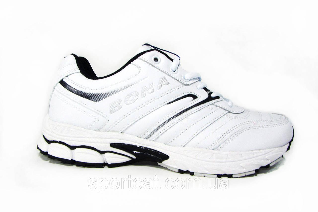5bc91dd5 Мужские кроссовки Bona, натуральная кожа, белый от интернет-магазина ...