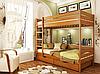 Кровать двухъярусная деревянная Дуэт 80 1500х860х1980мм   Эстелла, фото 6