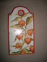 """Деревянная разделочная доска ручной работы для кухни """"Урожай"""", фото 1"""