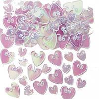 Конфетти Сердца перламутровые 14 1501-0210