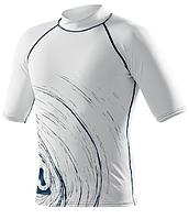 Мужская лайкровая футболка для водных видов спорта SubGear Circle White