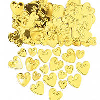 Конфетти сердца золотые 14 1501-0863