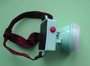 Фонарик налобный 3680, фонарик, светодиодный налобный фонарик, на батарейках , фото 2