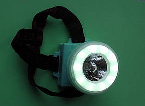 Фонарик налобный 3680, фонарик, светодиодный налобный фонарик, на батарейках , фото 3