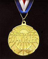 """Медаль в рамке """"Outstanding Co-Worker"""" 110316-260"""