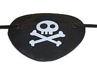 Повязка пирата на глаз (кожзам) 020316-108