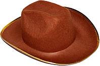 Шляпа Ковбоя (коричневая с желтым краем) 170216-356