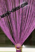 Шторы нити однотонные. Цвет фиолетовый, фото 1