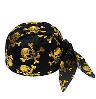 Шапка бандана с черепами (золото) 170216-118