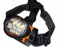 Фонарь на лоб, светодиодный, Налобный фонарь 603-7. Фонарик для велосипедистов, для туризма