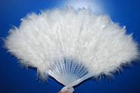 Веер перьевой белый 270216-161