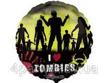 Шар фольгированный Зомби 1202-1397