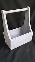 Фиолетовый деревянный ящик, 25х17х36 см., 190/160 (цена за 1 шт. + 30 гр.)