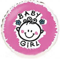 "Шар фольга 18"" Baby Girl 1202-3041"
